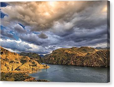 Canvas Print featuring the photograph Saguaro Storms by Anthony Citro