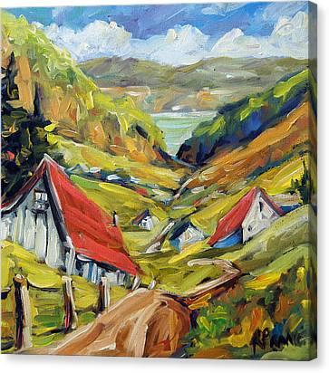 Saguenay Valley By Prankearts Canvas Print by Richard T Pranke