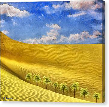 Sahara Desert Canvas Print by George Rossidis