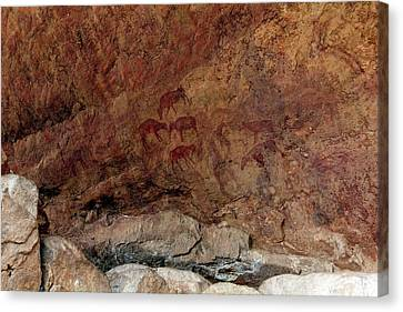 Saharan Rock Painting Canvas Print by Martin Rietze