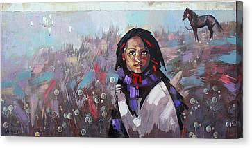 Canvas Print featuring the painting Sail  by Anastasija Kraineva