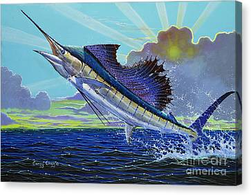 Whale Canvas Print - Sail Away Off0014 by Carey Chen