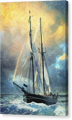 Sail Away To Avalon Canvas Print by Taylan Apukovska