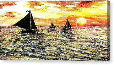 Canvas Print featuring the painting Sail Away With Me by Shana Rowe Jackson