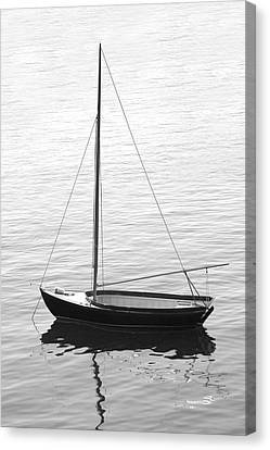 Sail Boat In Maine Canvas Print by Mike McGlothlen