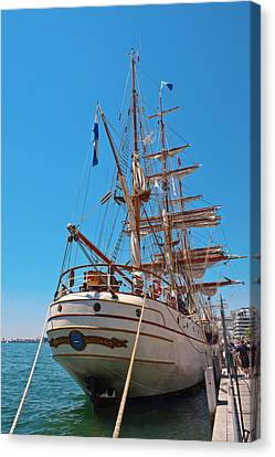 Canvas Print featuring the photograph Sail Boat by Marek Poplawski