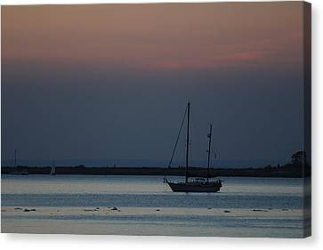 Sail Boat Port Jefferson New York Canvas Print by Bob Savage