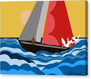 Sail Day Canvas Print by Christine Fournier