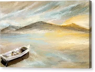 Sail Into The Sun Canvas Print by Lourry Legarde