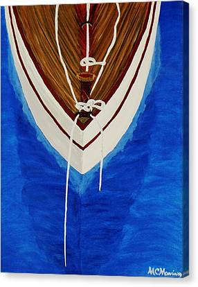 Canvas Print featuring the painting Sail On by Celeste Manning