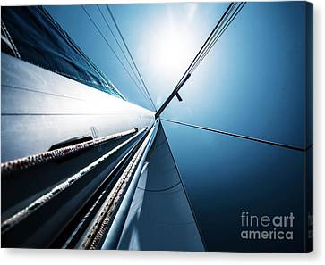 Sail Cloth Canvas Print - Sail Over Blue Clear Sky by Anna Om