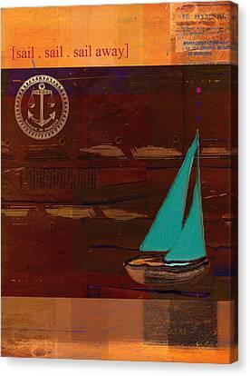 Sail Sail Sail Away - J173131140v3c4b Canvas Print by Variance Collections