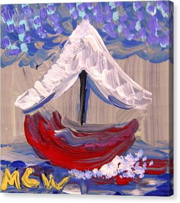 Canvas Print featuring the painting Sail Travel by Mary Carol Williams