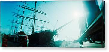 Sailboat At The Port, South Street Canvas Print