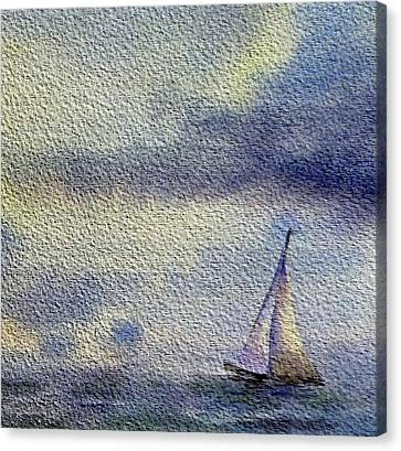 Sailboat At The Sea Canvas Print by Irina Sztukowski