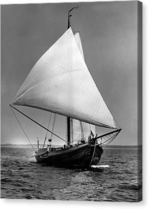 Sailboat Coming Into View Canvas Print by Retro Images Archive