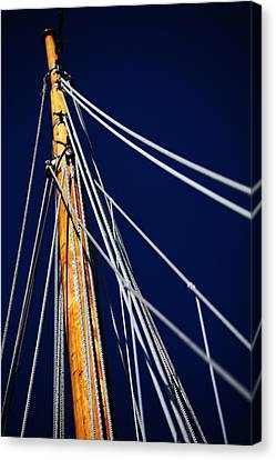 Sail Cloth Canvas Print - Sailboat Lines by Karol Livote
