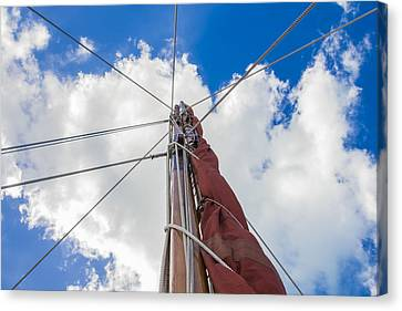 Canvas Print featuring the photograph Sailboat Mast 1 by Leigh Anne Meeks
