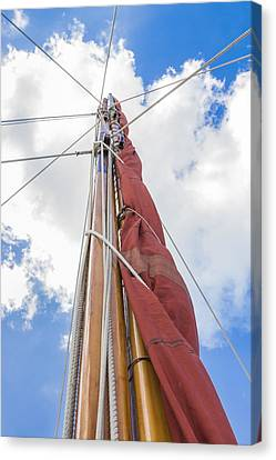 Canvas Print featuring the photograph Sailboat Mast 2 by Leigh Anne Meeks