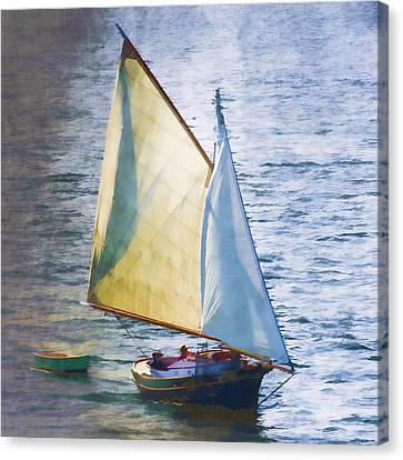 Sailboat Off Marthas Vineyard Massachusetts Canvas Print by Carol Leigh