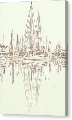Canvas Print featuring the photograph Sailboat On Liberty Bay by Greg Reed