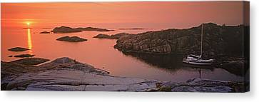 Sailboat On The Coast, Lilla Nassa Canvas Print by Panoramic Images