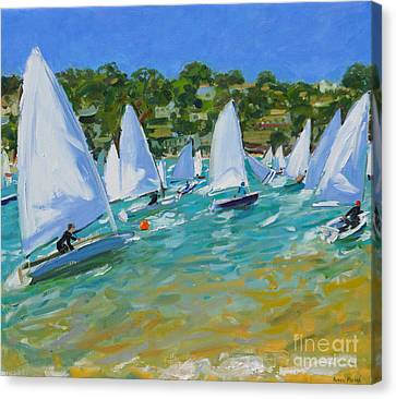 Sailboat Race Canvas Print by Andrew Macara