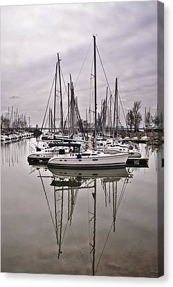 Sailboat Row Canvas Print