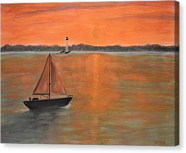 Sailboat Sunset Canvas Print