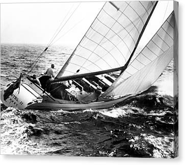 Sailboat Turning Canvas Print by Retro Images Archive