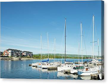 Collingwood Canvas Print - Sailboats At Harbor, Collingwood by Panoramic Images