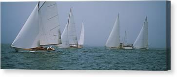 Sailboats At Regatta, Newport, Rhode Canvas Print by Panoramic Images
