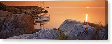 Sailboats On The Coast, Lilla Nassa Canvas Print by Panoramic Images