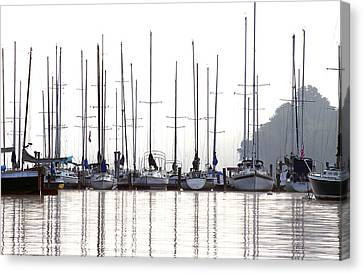 Sailboats Reflected Canvas Print