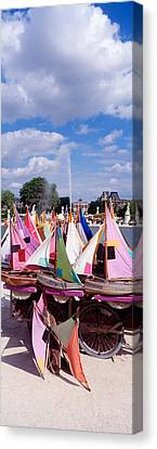 Sailboats Tuilleries Paris France Canvas Print by Panoramic Images