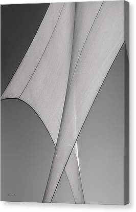 Canvas Print featuring the photograph Sailcloth Abstract Number 3 by Bob Orsillo