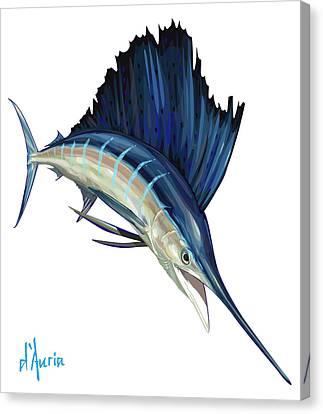 Sailfish Canvas Print by Tom Dauria