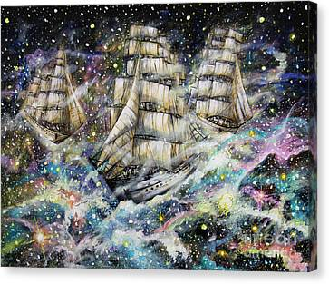 Sailing Among The Stars Canvas Print