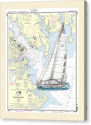 Sailing Annapolis Harbor Canvas Print by Jack Pumphrey