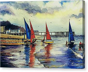 Sailing At Penarth Canvas Print by Andrew Read