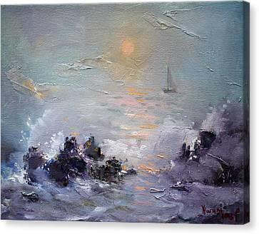 Sailing Back Home Canvas Print