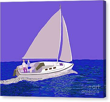 Sailing Blue Ocean Canvas Print
