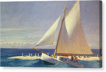 At Sea Canvas Print - Sailing Boat by Edward Hopper