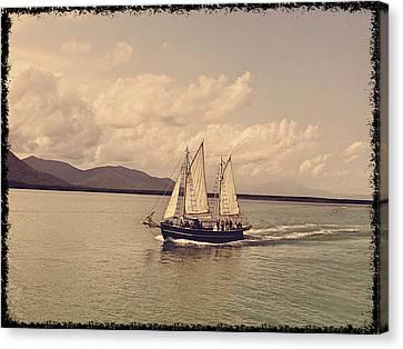 Sailing Boat Canvas Print by Girish J