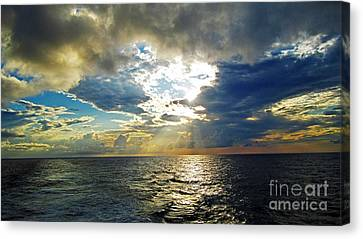Sailing By Heaven's Door Canvas Print by Alison Tomich