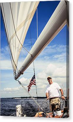 Sailing Captain Pride Canvas Print