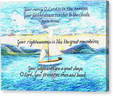 Sailing  Canvas Print by Catherine Saldana