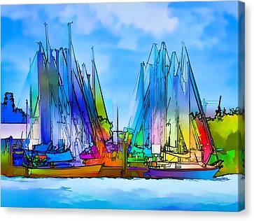 Sailing Club Abstract Canvas Print