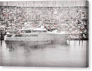 Canvas Print featuring the digital art Sailing by Davina Washington