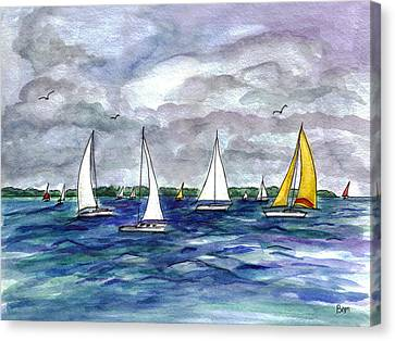 Sailing Day Canvas Print